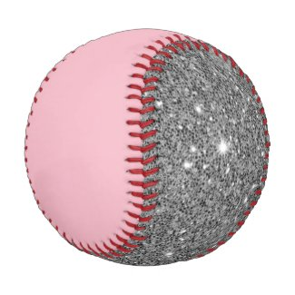 Sparkle and Pink Flashy Baseball
