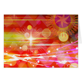Sparkle and Shine Chevron Light Rays Abstract Cards
