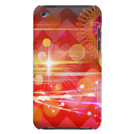 Sparkle and Shine Chevron Light Rays Abstract Barely There iPod Cases