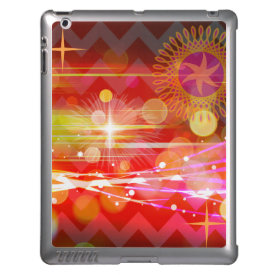 Sparkle and Shine Chevron Light Rays Abstract Cover For iPad