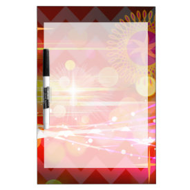 Sparkle and Shine Chevron Light Rays Abstract Dry-Erase Whiteboards