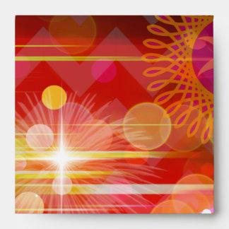 Sparkle and Shine Chevron Light Rays Abstract Envelopes