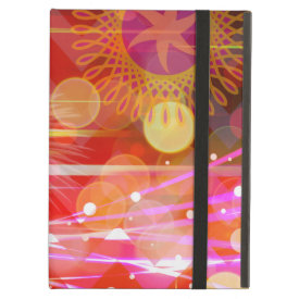 Sparkle and Shine Chevron Light Rays Abstract iPad Folio Cases