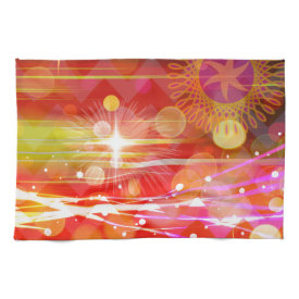Sparkle and Shine Chevron Light Rays Abstract Kitchen Towels