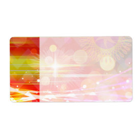 Sparkle and Shine Chevron Light Rays Abstract Custom Shipping Labels