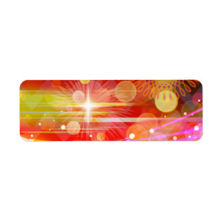 Sparkle and Shine Chevron Light Rays Abstract Label