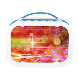 Sparkle and Shine Chevron Light Rays Abstract Lunchboxes