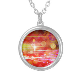 Sparkle and Shine Chevron Light Rays Abstract Custom Jewelry