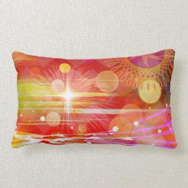 Sparkle and Shine Chevron Light Rays Abstract Throw Pillow