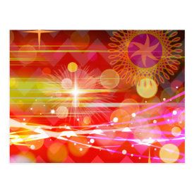 Sparkle and Shine Chevron Light Rays Abstract Post Card
