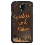 Sparkle And Shine Gold & Watercolor Typography Art Carved Cherry Galaxy S5 Case