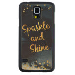 Sparkle And Shine Gold & Watercolor Typography Art Carved Maple Galaxy S5 Case