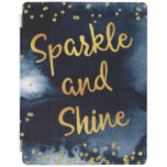Sparkle And Shine Gold & Watercolor Typography Art iPad Smart Cover
