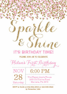sparkle invitations zazzle