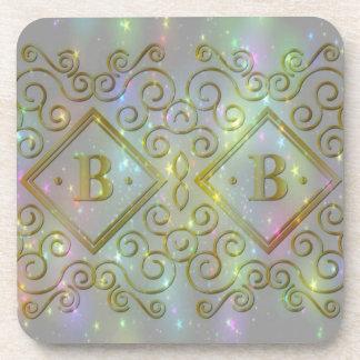 sparkle b initial coaster