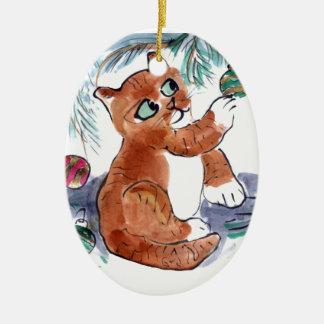 Sparkle Balls Attrack Louie Ceramic Ornament