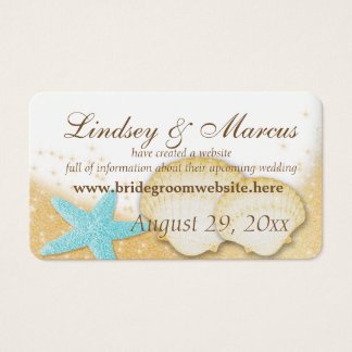 Sparkle Beach Wedding Information Cards