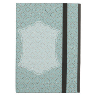 Sparkle Blue Moroccan Design Cover For iPad Air