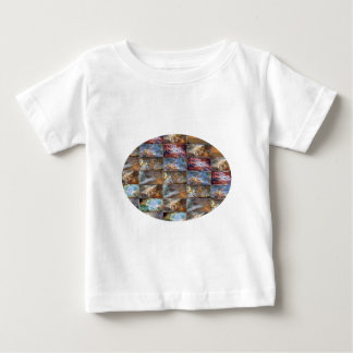 Sparkle Blue Stained Glass n Happy Abstract Art Baby T-Shirt