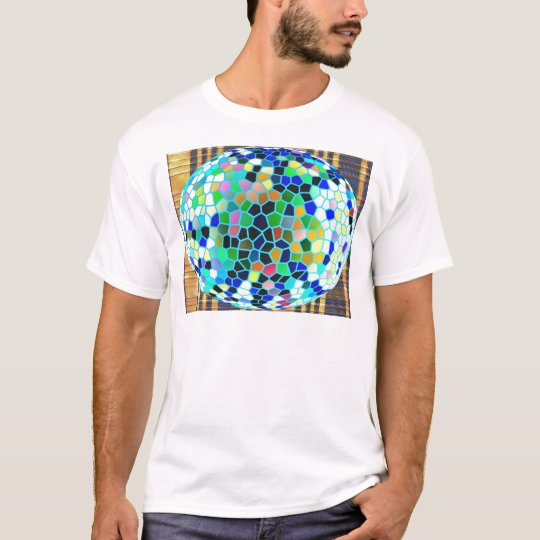 Sparkle Blue Stained Glass n Happy Abstract Art T-Shirt