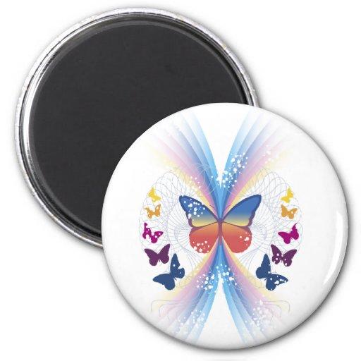 sparkle.butterfly imán redondo 5 cm