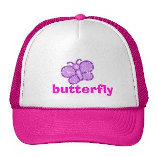 sparkle, butterfly trucker hat
