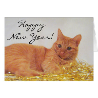 Sparkle Cat 2009 Happy New Year Card
