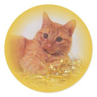 Sparkle Cat Holiday sticker
