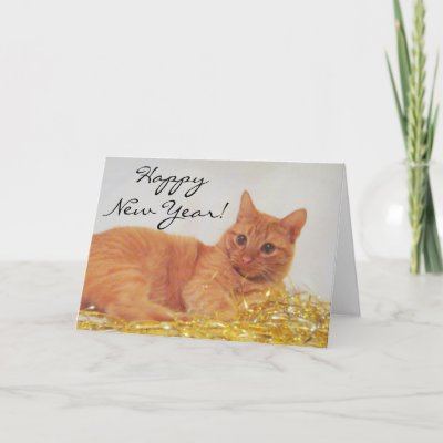 sparkle cat 2009 happy new year card zazzlecom