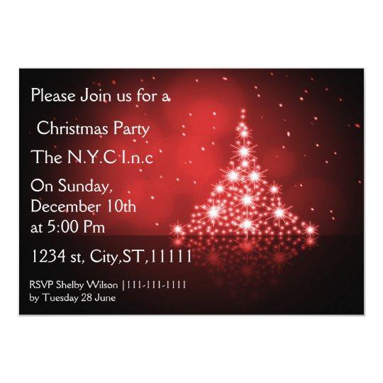 sparkle christmas tree Holiday party Invitation