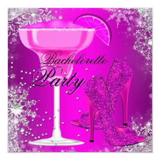Sparkle Cocktail & Heels Bachelorette Invitation