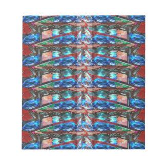Sparkle Complex Jewels  Template ORIGINAL FUN ART Note Pad