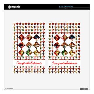 Sparkle Diamond Pattern : Editable Greeting Text Kindle Fire Skin
