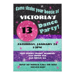 Sparkle Disco Dance Party Invitations