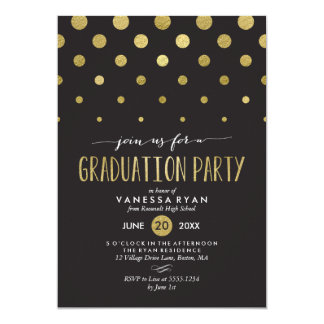 Sparkle Dots Graduation Party Invitation