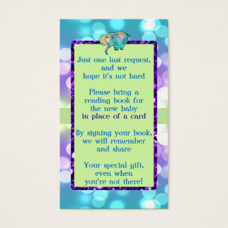 Sparkle Dots Pastel Elephant Baby Shower CSTM3 Business Card
