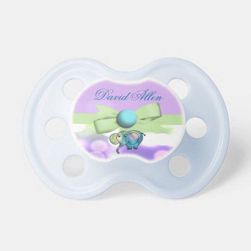 sparkle dots pastel elephant baby shower pacifier zazzle