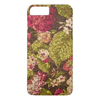 Sparkle Effect Floral Brocade iPhone 8 Plus/7 Plus Case