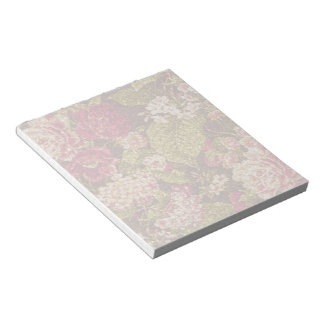 Sparkle Effect Floral Brocade Note Pad