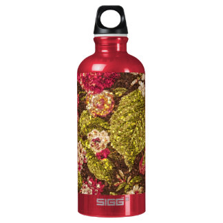 Sparkle Effect Floral Brocade Water Bottle