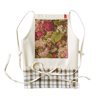 Sparkle Effect Floral Brocade Zazzle HEART Apron