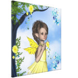 Sparkle Elf Faerie Gigi Wrapped Canvas Gallery Wrapped Canvas