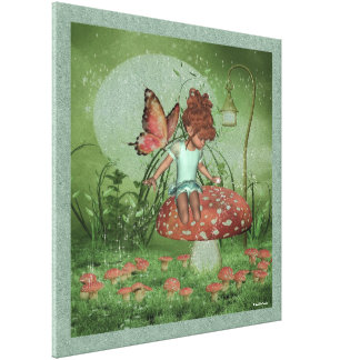 Sparkle Elf Toddler Faerie Katie Wrapped Canvas
