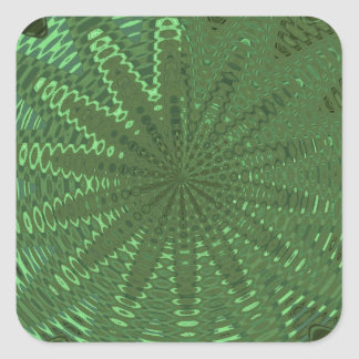 SPARKLE Emerald Green : Flower Chakra Display Deco Square Stickers