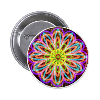 Sparkle Energy Star - Art from a Reiki Master 2 Inch Round Button
