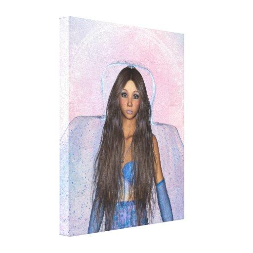 Sparkle Faerie Blu Wrapped Canvas Canvas Print