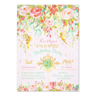 Sparkle Fairy Enchanted Garden Birthday Card