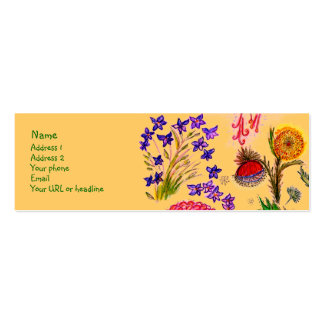 Sparkle Flowers card. Business Card Template