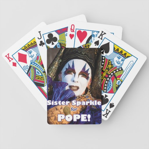 Sparkle for Pope Bicycle Playing Cards