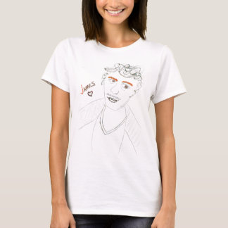 'Sparkle Franco' Ladies Baby Doll (Fitted) T-Shirt